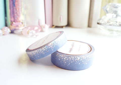 Stardust LAVENDER MIST washi tape set - 15mm/10mm - holo/rose gold foil - (April mini release)