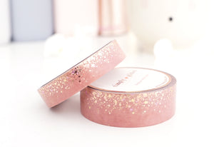 WASHI TAPE 15/10mm set PINK SANDALWOOD STARDUST + gold/rose gold/purple foil (August 2 release)