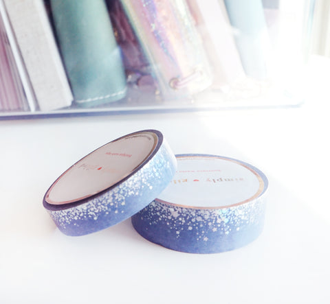WASHI TAPE 15/10mm set - STARDUST STORM - holographic + silver foil (June 22 release)