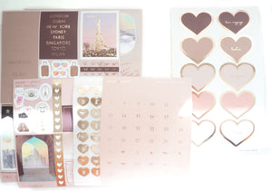 LUXE STICKERS - FIRST CLASS luxe stickers kit + rose gold (First Class)