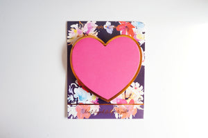 STICKY NOTES -  Floral Fantasy Heart shaped (Mystery Monday)