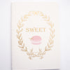 B6 NOTEBOOK INSERT - SWEET B6 Notebook Insert + gold foil (Sugar Collection)