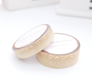 WASHI TAPE 15/10mm set - SUGAR COOKIE STARDUST - holographic gold/rose gold foil (November 8 Holiday Release)