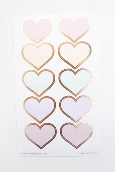LUXE STICKER set - SUGAR COLLECTION luxe stickers, mini sheets and heart seals + matte gold foil (Sugar Collection)