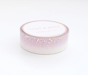 WASHI 15mm  - SWEET CELEBRATION STARDUST + silver holographic/lt. gold (Sweet Celebration)