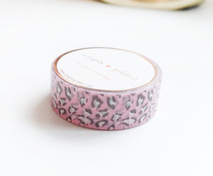 WASHI TAPE 15mm - Sweet LEOPARD (no foil) (January 10 Release)