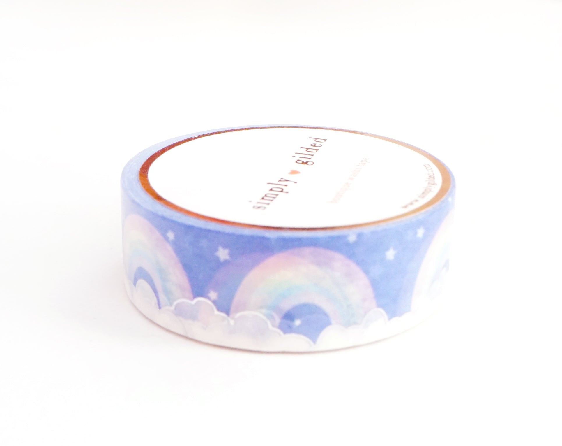 WASHI TAPE 15mm - SWEET DREAMS Rainbows + silver holographic foil (March 17 Release)