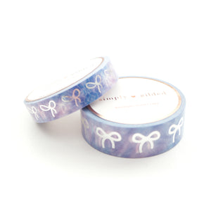 WASHI TAPE 15mm/10mm BOW set- HARMONY DUSK tie-dye + silver (June 22nd Release)