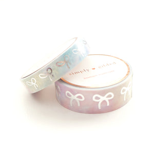 WASHI TAPE 15mm/10mm BOW set - SWEET RAINBOW tie-dye + silver (June 22nd Release)