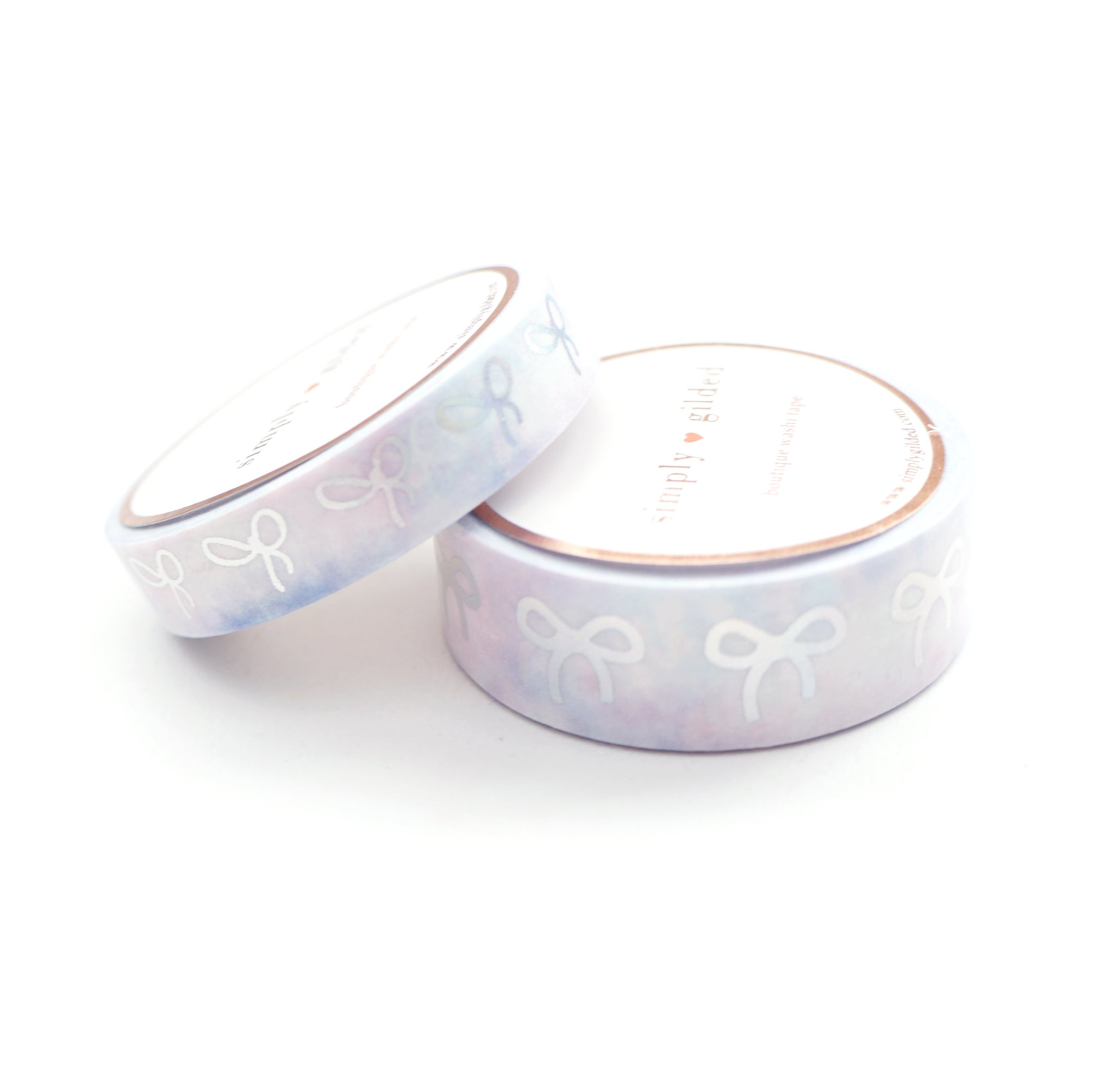 WASHI TAPE 15mm/10mm BOW set - WHISPER tie-dye + silver HOLO (June 22nd Release)