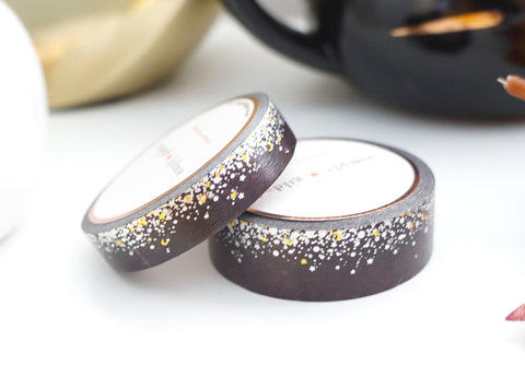 WASHI TAPE 15/10mm set TRICK STARDUST + silver holographic/gold foil (October 2019 Release)
