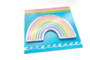 NOTEPAD - VIBRANT Rainbow sticky notepad + silver holographic foil