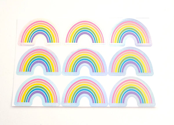LABEL SEALS - RAINBOW + silver HOLOGRAPHIC foil (February 28 Release)