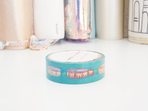 WASHI TAPE 15mm - WASHICEPTION 3 + gold/holographic foil (Mystery Monday)