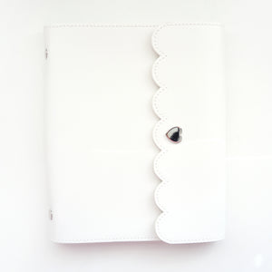 LARGE STICKER BOOK - WHITE + silver hardware