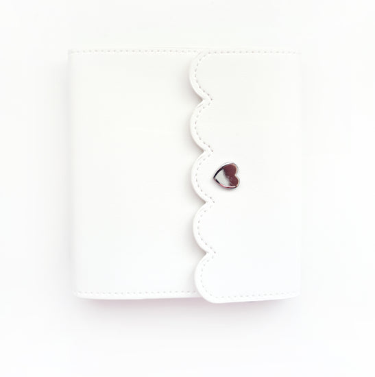 MINI STICKER BOOK - WHITE + silver hardware