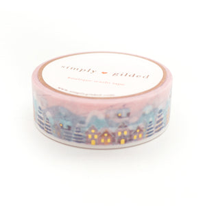 WASHI 15mm - SKI Lodge DAY Version 2.0 + hot gold (pink)