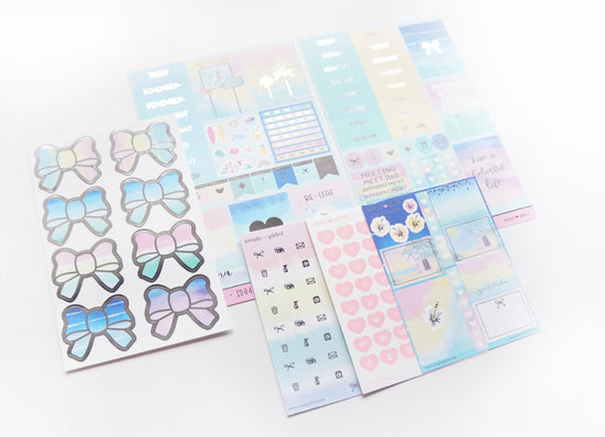 LUXE STICKER set - With ALOHA luxe sticker kit + Silver (With ALOHA)