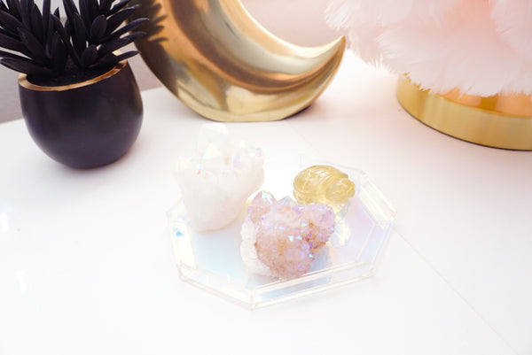 TRAY - You're a Gem Iridescent acrylic gem-shaped tray (Mystery Monday)