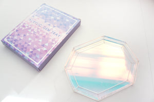 TRAY - Iridescent acrylic gem-shaped tray (You're a Gem)