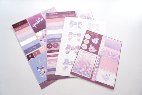 LUXE STICKER set - YOU'RE A GEM luxe stickers, mini sheet and bow seals (You're a Gem)