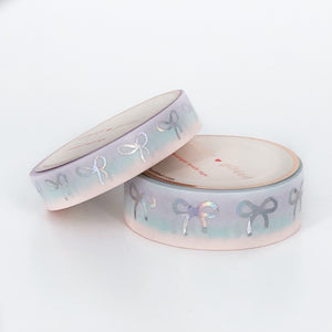WASHI 15/10mm - Mermaid Dreams BOW Variation + silver holographic sparkler