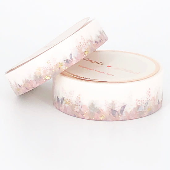 WASHI 15/10mm - FESTIVE Floral Floor + light gold