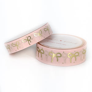 WASHI 15/10mm set - FAWN'D MEMORIES Micro Dot Pink + light gold