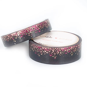 WASHI 15/10mm set - Smokin' Stardust + rose gold/raspberry foil