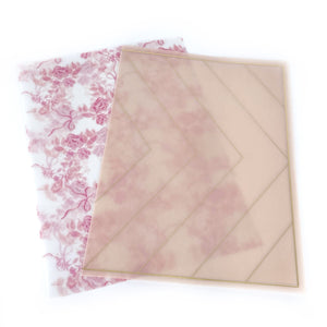 VELLUM set of 2 - light gold foil (Paris in Spring)