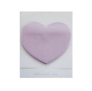 STICKY NOTE - HEART shaped vellum (Iridescent Ink)