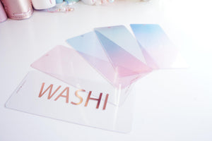 ROSE GOLD Washi Cards - rose gold foil (washi cards)
