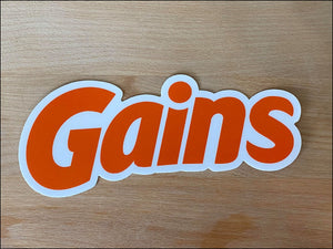 GAINS Vinyl Sticker