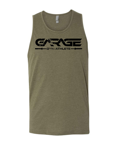 Garage Gym Athlete Tank Top - Olive Drab