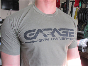 Garage Gym Owner CVC Crew - Olive Drab with Black