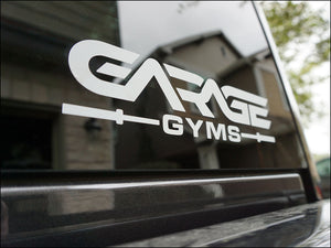 "Garage Gyms 8"" Transfer Sticker"