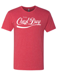 Enjoy Chest Day Tri-Blend T-Shirt in Vintage Red