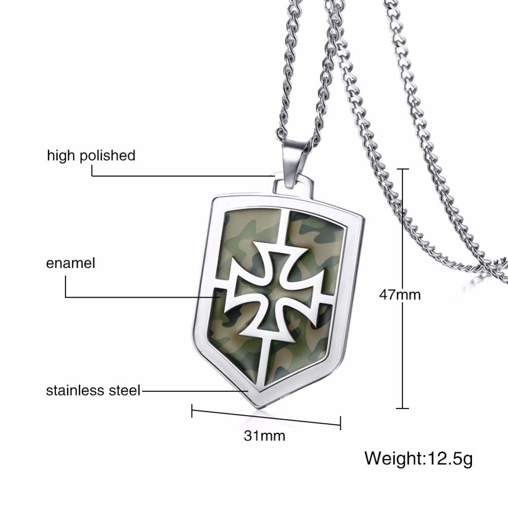 Camouflage knights templar cross pendant necklace bavipower camouflage knights templar cross pendant necklace aloadofball Image collections