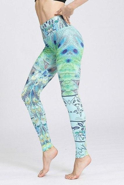 8803a7be83 CHATURANGA Peacock green LEGGINGS - YanOne