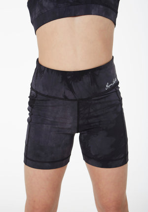 Gym Secrets Tie Dye Black Bike Shorts Mini