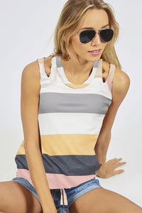 Make It Count Colorblock Tank