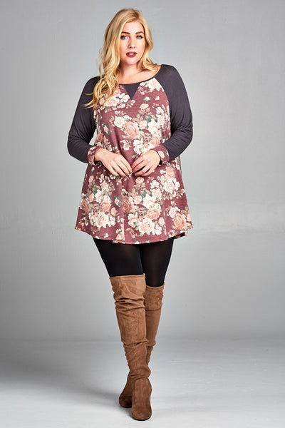 Time for a Change Floral Tunic