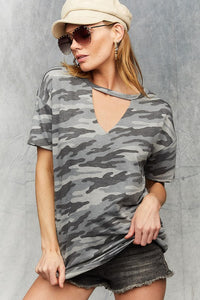 Make Them Talk Camo Top