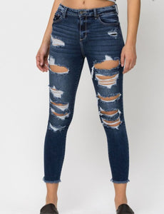 The Little Things ~ Distressed Crop Skinny Jeans