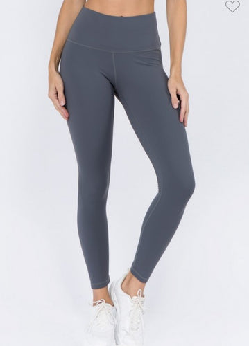 On Trend Charcoal Leggings