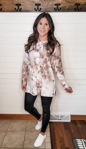 Mean What You Say Brushed Tunic ~ Curvy