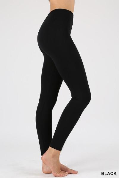 Tummy Control Fleece Leggings - Curvy
