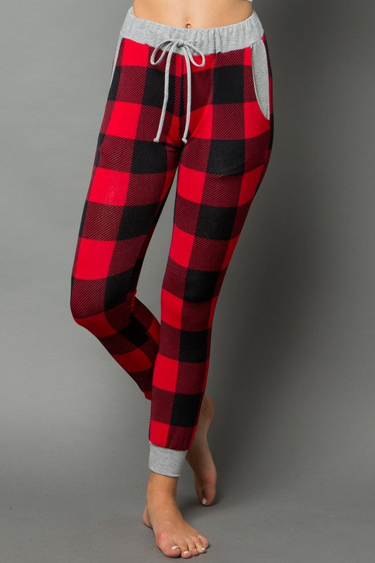 Be Merry Plaid Jogging Pant - Curvy