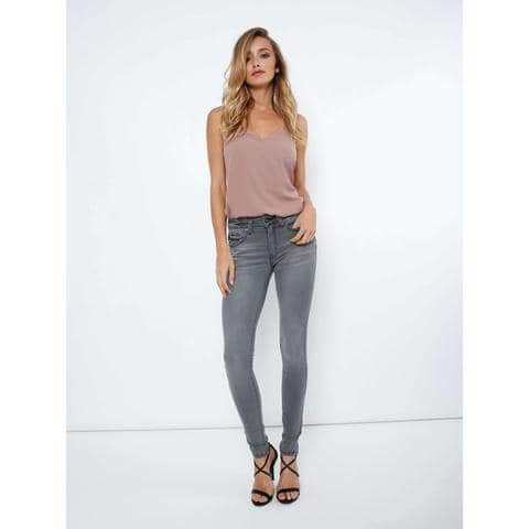 KanCan Faded Grey Skinny Stretch