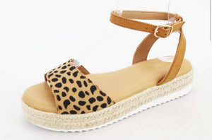 The Details Animal Print Sandals